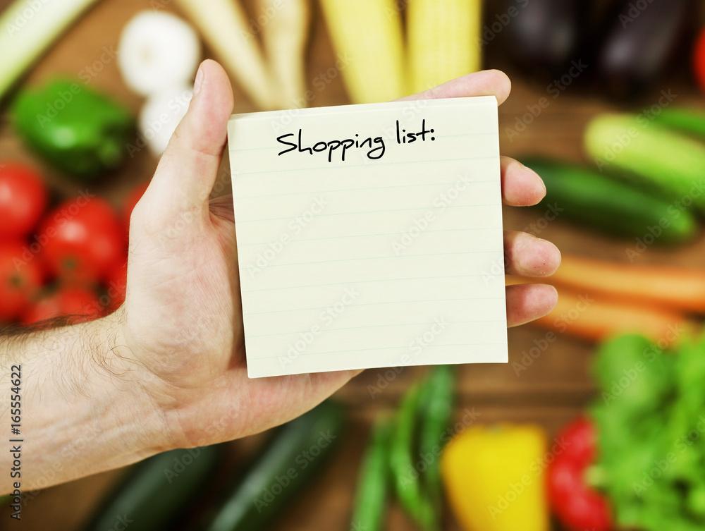 Fototapeta Blank shopping list