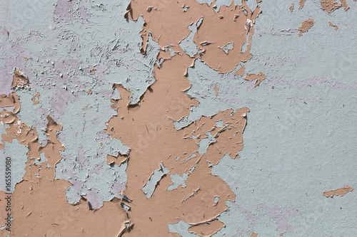 Recess Fitting World Map Rusty iron wall covered with paint