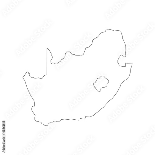 South Africa Map Outline Buy This Stock Vector And Explore Similar