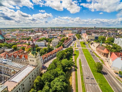Obraz Krajobraz miasta z widokiem na okolice trasy Zamkowej - fototapety do salonu