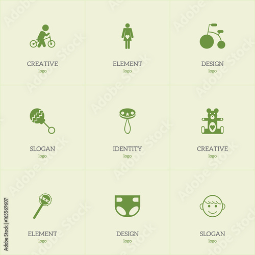 Terrific Set Of 9 Editable Baby Icons Includes Symbols Such As Uwap Interior Chair Design Uwaporg