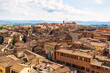 Aerial view old centre town Siena