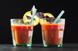 Tomato juice with tomatoes