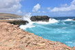 Splashing Ocean Waves with Rocks Near Andicuri Beach