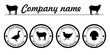 Vector farm animals silhouettes animals farm logo