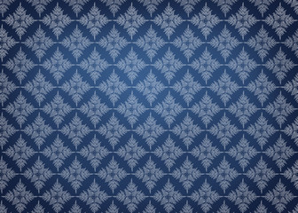 Elegant pattern on gradient blue background