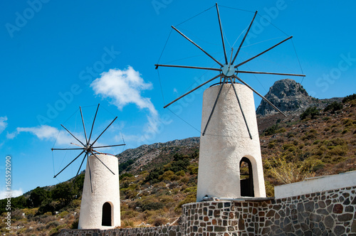 Cretan Windmills Canvas Print