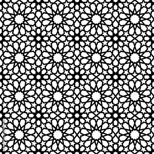Canvastavla Vintage muslim mosaic tile background decoration art