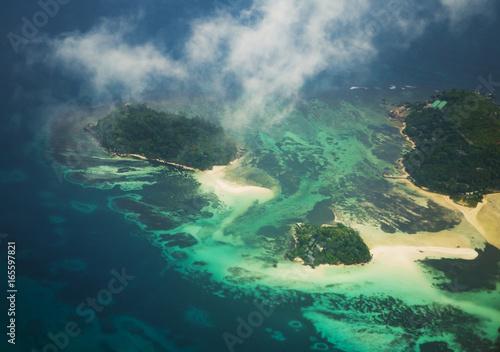 Seychelles from the airplane Fototapeta