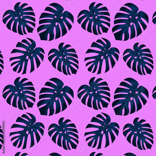 tropical leaves pattern seamless pattern of tropical palm leaves