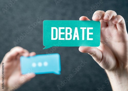 Debate, argument, controversy and disputation concept Wallpaper Mural