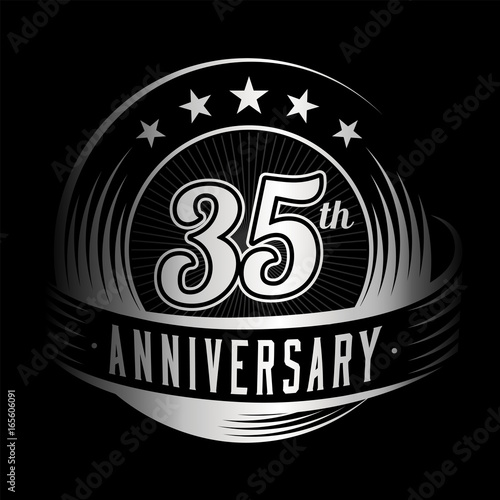 35 Years Anniversary Design Template Vector And Illustration 35th