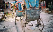 Trishaw In Kathmandu, Nepal