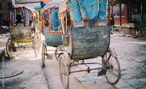 Trishaw in Kathmandu, Nepal Tapéta, Fotótapéta