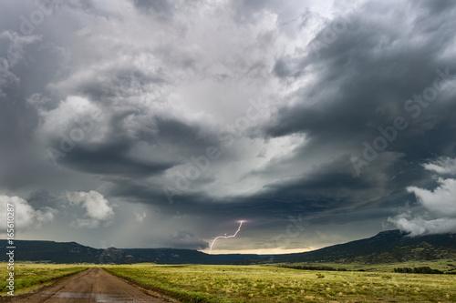 Plakat Burza z piorunami