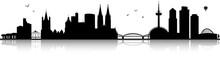 Köln Rhein Skyline Panorama M...