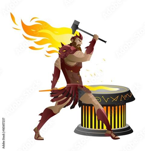 Photo  vulcan hephaestus greek roman mythology god of the forge and blacksmiths