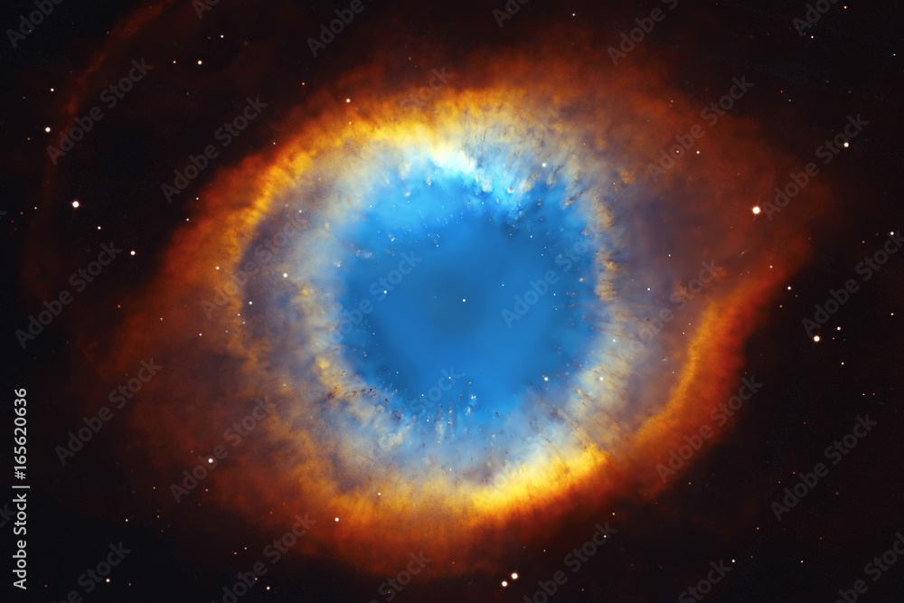 Fototapety, obrazy: The Helix Nebula or NGC 7293 in the constellation Aquarius.