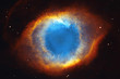 canvas print picture - The Helix Nebula or NGC 7293 in the constellation Aquarius.