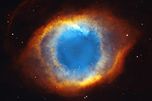The Helix Nebula Or NGC 7293 In The Constellation Aquarius.