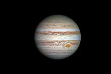 Jupiter Planet, Isolated On Black.