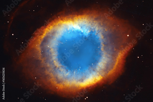 The Helix Nebula or NGC 7293 in the constellation Aquarius.  - 165620636