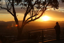 The Beautiful Colours Of Sunset As Seen From Oxley Lookout At Tamworth In NSW Australia.