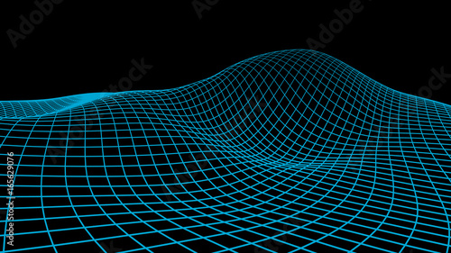 Abstract vector cyberspace background Canvas Print