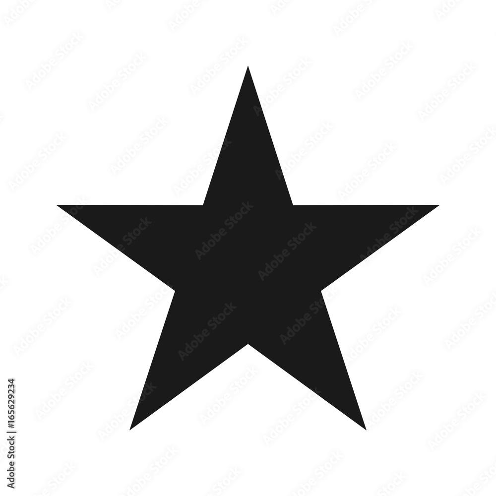 Fototapety, obrazy: star vector logo. alone star.
