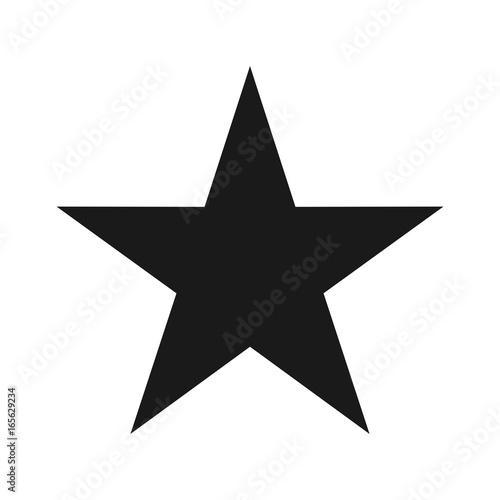 star vector logo. alone star.