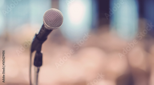 Fotografie, Obraz  microphone on stage
