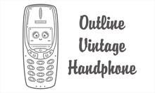 Vintage Handphone Retro