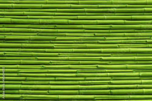 Foto op Plexiglas Bamboe Green bamboo fence background and texture