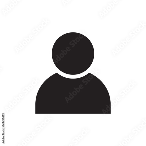 Fotografía  person icon, people icon isolated vector