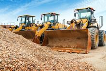 Neatly Arranged Excavators
