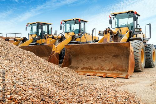 Fotomural  Neatly arranged excavators