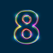 Number 8 - Vector Multicolored...