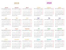Calendar Design 2019-2020 Vect...