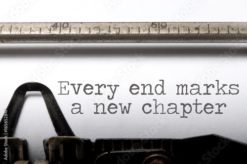 Every end is a new chapter Fototapet