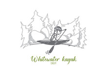 Whitewater Kayak Concept. Hand...