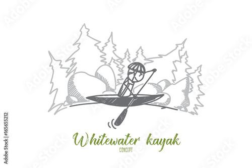 Fotografía Whitewater kayak concept
