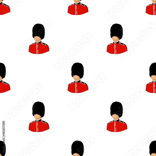 Queen's guard icon in cartoon style isolated on white background Wallpaper Mural