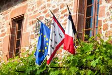 Drapeaux De LEurope, France Et...