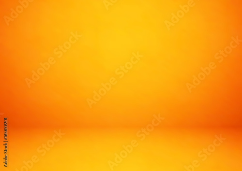 Photo  Empty orange studio room, used as background for display your products - Vector