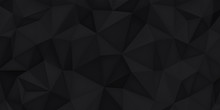Low Polygon Shapes, Black Back...
