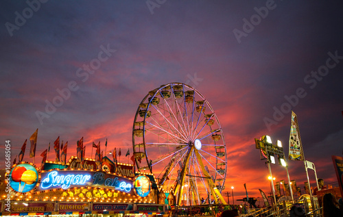 Photo State Fair sunset