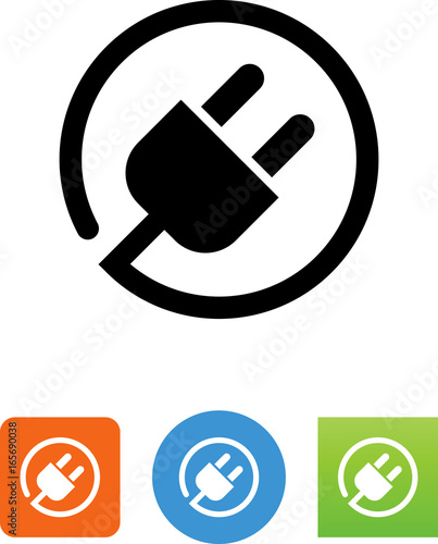 Photo  Electrical Plug With Cord Icon - Illustration