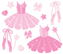 Vector Set With Ballet Shoes A...