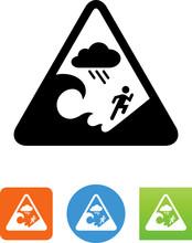 Flash Flood Warning Icon - Illustration