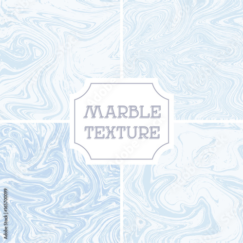 Light white and blue marble texture. Vector liquid background, template, texture, wallpaper, backdrop pattern
